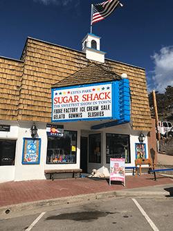 estes park sugar shack sign
