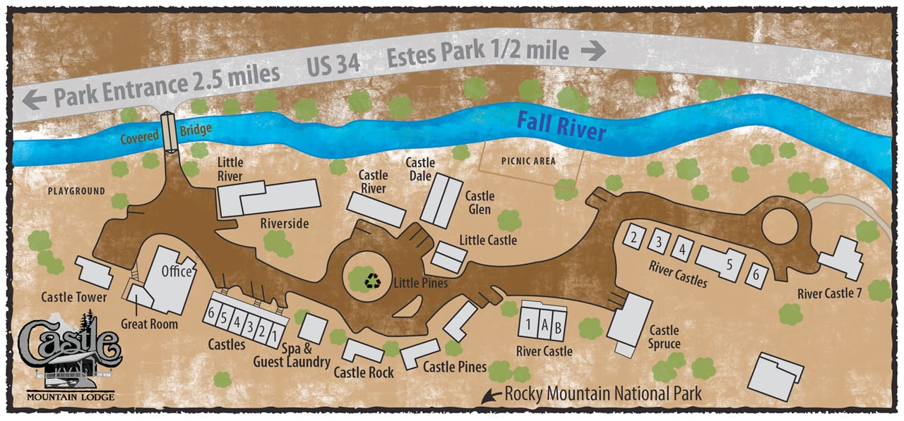 Castle Mountain Lodge Property Map